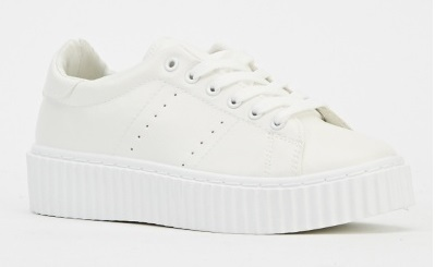 Everything 5 pounds white flatform trainers