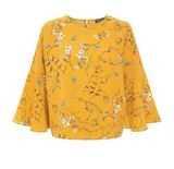 New Look yellow floral top