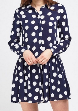 Everything 5 Pounds polka dot shirt dress
