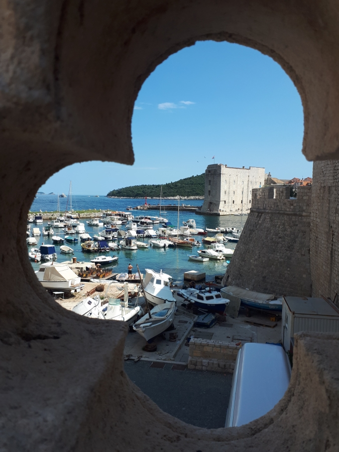 View through Ploce Gate wall