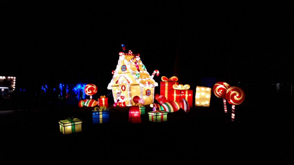 Birmingham Magic Lantern Festival - gingerbread house and presents