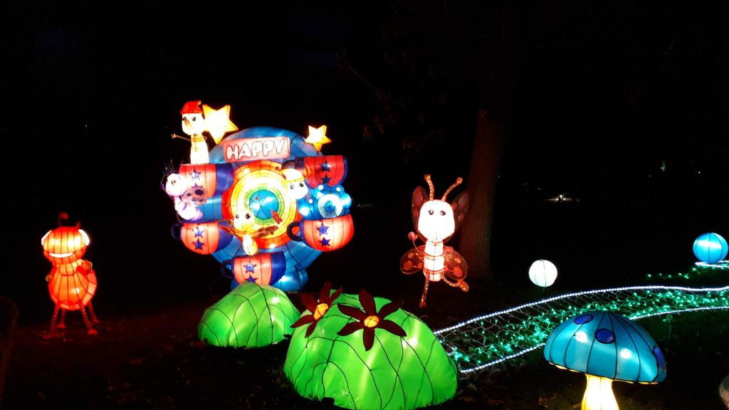 Birmingham Magic Lantern Festival - cute insects and toadstools
